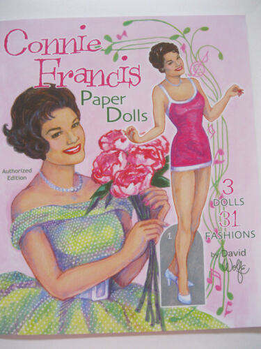 CONNIE FRANCIS Paper Doll Book w/ 3 Dolls and 31 Fashions--AUTHORIZED EDITION!