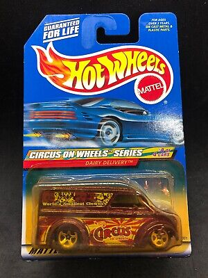 Hot Wheels 2000 Dairy Delivery Clowns Racing Truck Rare Purple HTF New - Hot Clown