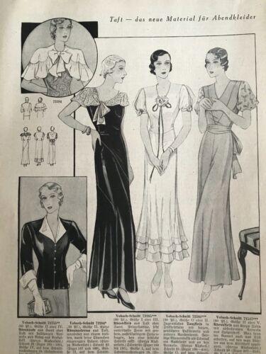 1933 German magazine  & its SEWING patterns - DIGITAL FORMAT -heft 5