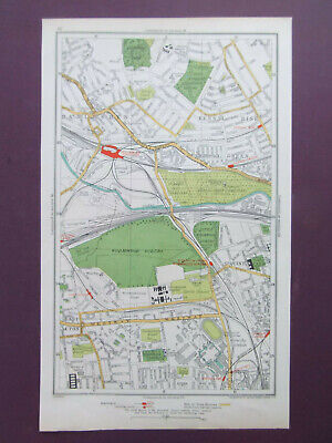 LONDON E.ACTON HARLESDEN KENSAL RISE WORMWOOD SCRUBBS OLD STREET MAP DATED 1933