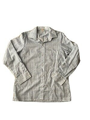 1970s Men's Shirt Styles – Vintage 70s Shirts for Guys Crystal Clubs Men's Single Stitch Long Sleeves Shirt Poly/cotton size L          $21.76 AT vintagedancer.com
