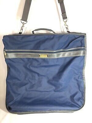 Vintage Samsonite Men's Suit Carrier Garment Bag Strap Luggage Blue & Gray
