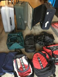 Suit cases and travel bags