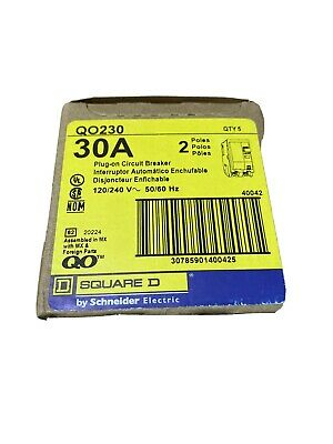 Box Of 5 Square D Qo230 2 Pole