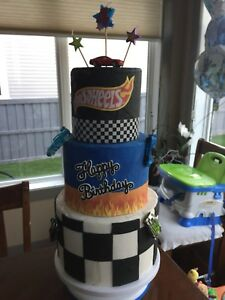 Fake hot wheels cake