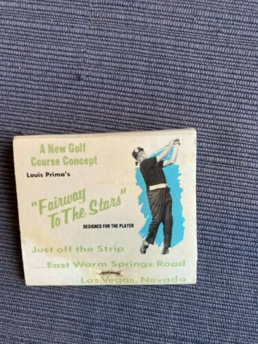 Louis Prima Fairway To The Stars Front Striker Matchbook Las Vegas Nevada