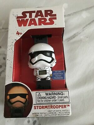 BulbBotz Star Wars 2021128 Stormtrooper Kids Light up Digital Watch White/Black