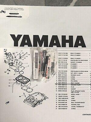 <em>YAMAHA</em> TZ250 TZ350 1973 80 CYLINDER HEAD BOLTS X3 GEN YAM