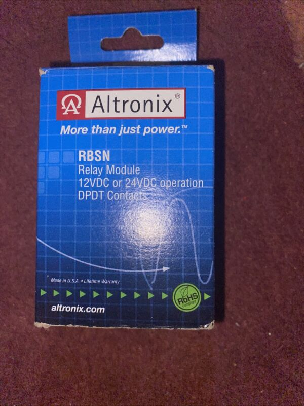 ALTRONIX RBSN Sensitive Relay Module 12 24 Vic DPDT New In Box