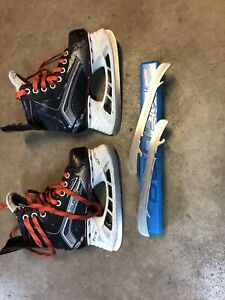 Bauer Hockey Skates Size 1D with extra blades - Atom age
