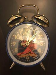 Vintage Sunbeam Disney Fantasia Mickey Mouse Wind-up Double Bell Alarm Clock