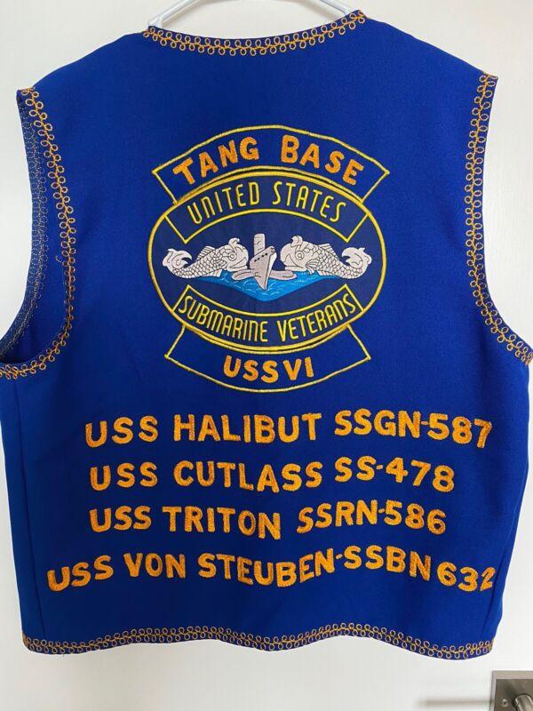 Vintage US Submarine Veterans Cold War Era Submarine Tang Base Members Vest