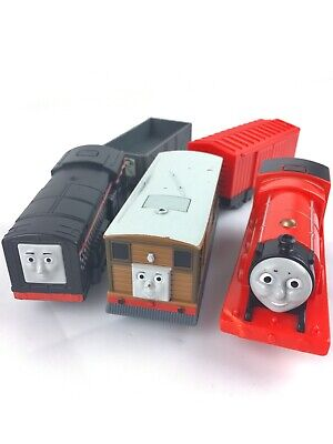 Thomas & Friends Trackmaster 3 Motorized & Talking Trains Diesel, Toby & James