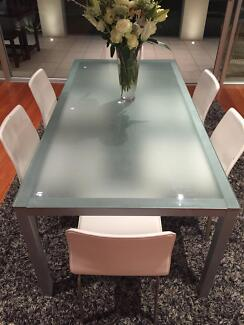 Beautiful Glass Dining Room Table Mosman Mosman Area Preview