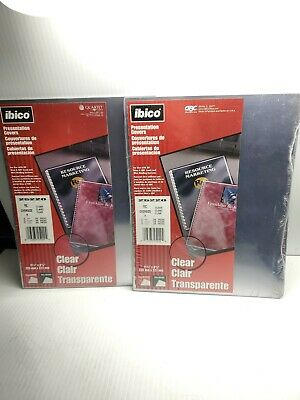 2 Ibico Presentation Covers 8 34 X 11 14 Clear 25-pack X 2 For 50 Total