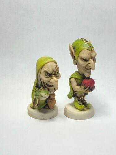 Harmony Kingdom artist Neil Eyre Designs Halloween Warlock Goblin n witch set 2