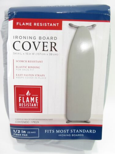 """Ironing Board Pad Cover Flame Scorch Resistant 1/2"""" Thick Padding New/Package"""