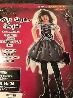Girls Gothic Halloween Costumes (Halloween Costume Girls Gothic Spider Bride Medium)