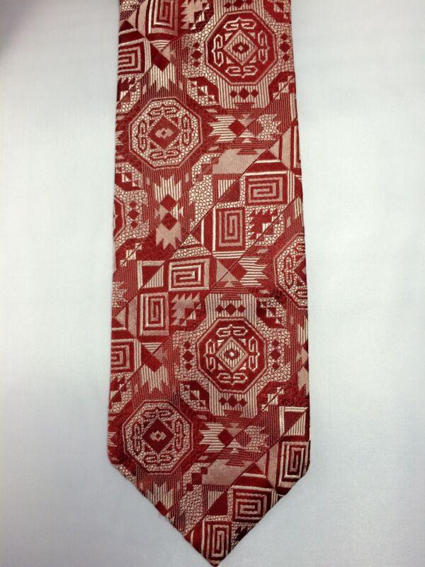 Vintage Men's Neck Tie Ernst Red Rhodia  Acetate France San Francisco