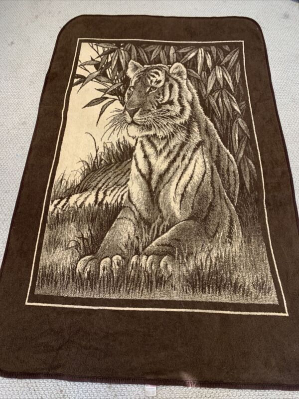 "San Marcos Blanket Brown Tiger 83"" x 52"""
