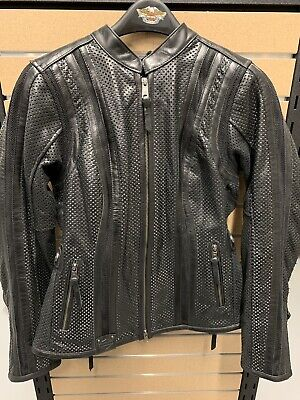 Harley-davidson 3 In 1 Womens Perforated Leather Jacket XLarge