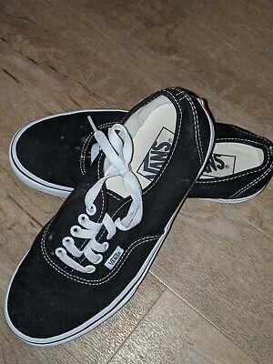 Vans Womens Era Black Skateboarding Shoes Size 8 (868842)