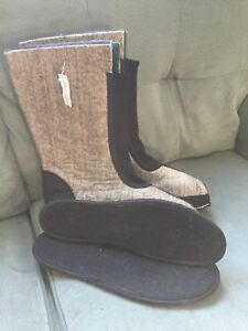 Size 10 men's sorel felts and insoles brand new