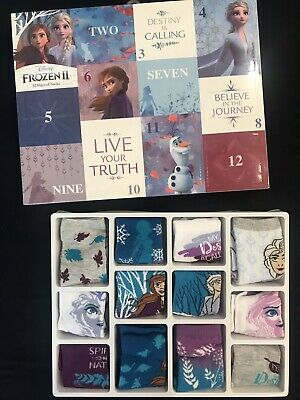 Disney Frozen 2 - 12 Days Of Socks Christmas Advent Calendar NEW