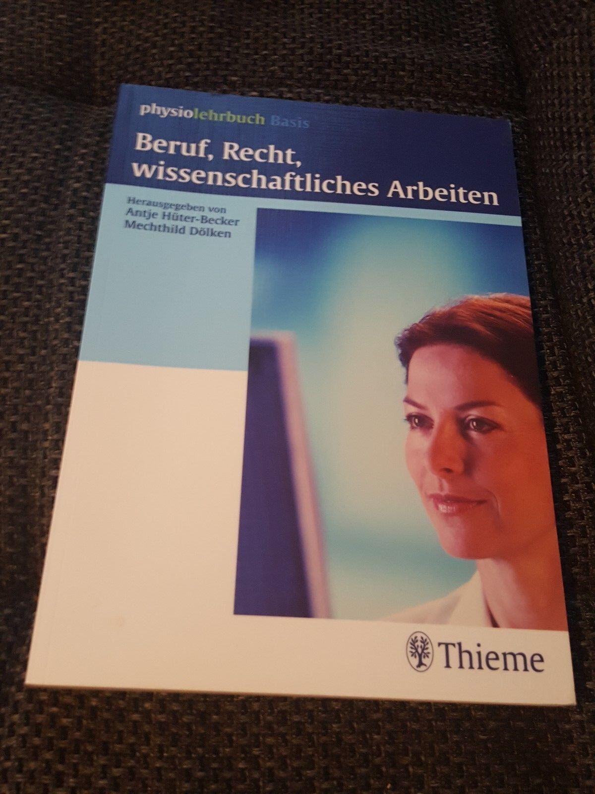Beruf, Recht wissenschaftliches Arbeiten Hüter-Becker Thieme