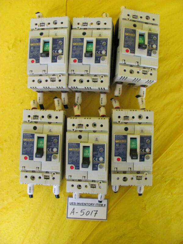 Mitsubishi NV50-SW Earth-Leakage Circuit Breaker Lot of 6 Used Working