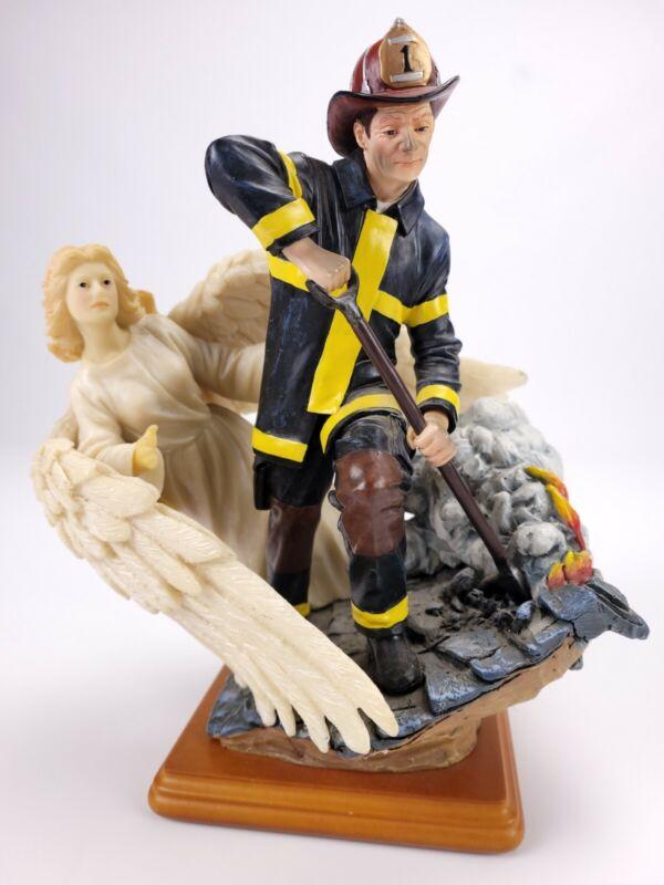 2001 Vanmark Red Hats Courage Unseen Guardian Firefighter Angel Figurine 3/1404