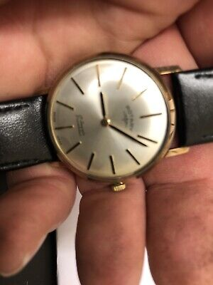 1970s Rotary 9ct Gold Gents Manual Wind Up Watch Vgwo