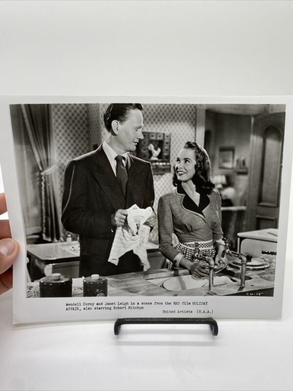 1949 Holiday Affair Promo Movie Photograph Wendell Corey, Janet Leigh