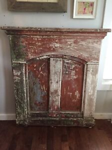 Antique Mantle, Dresser and Church Pew