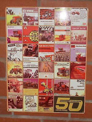 MASSEY FERGUSON 50 YEAR CELEBRATION ENAMEL WALL MOUNTED SIGN