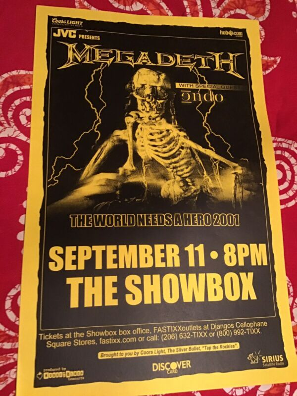 Megadeth. Seattle Show Poster