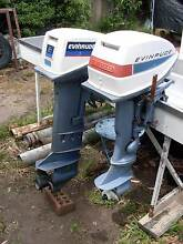Evinrude 15 hp long shaft outboard motor with tank and hose $400 Mornington Clarence Area Preview