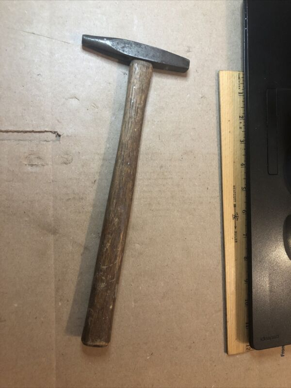"""vintage cast steel cross pien tack hammer 11.5"""" long overall 7 Oz total weight !"""