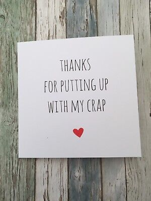 Funny Anniversary Valentine's Card Cheeky Humour Rude/  Banter / Sarcasm - PUC - Valentine Cards Funny