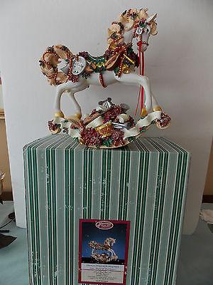 NIB San Francisco Music Box Christmas Rhapsody Rocking Horse Waltz Of The Flower