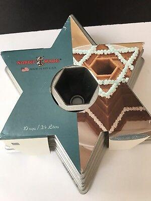 Nordic Ware Cast Aluminum Nonstick Star Of David Bundt Cake Pan - Nordic Ware Star Bundt Pan