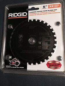 R3250 Ridgid Twin Blade Saw Blades New R0532C Carbide