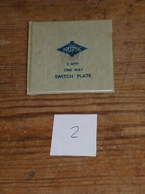 New Britmac Vintage Chrome 1 Gang Toggle Light Switch Front Plate Single