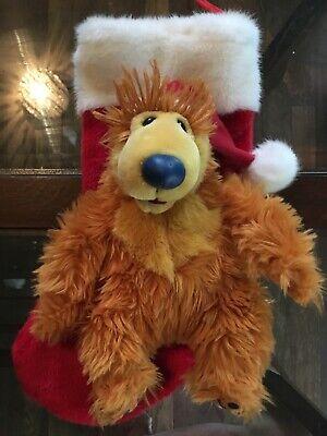 "15"" LARGE DISNEY BEAR IN THE BIG BLUE HOUSE JIM HENSON PLUSH CHRISTMAS STOCKING"