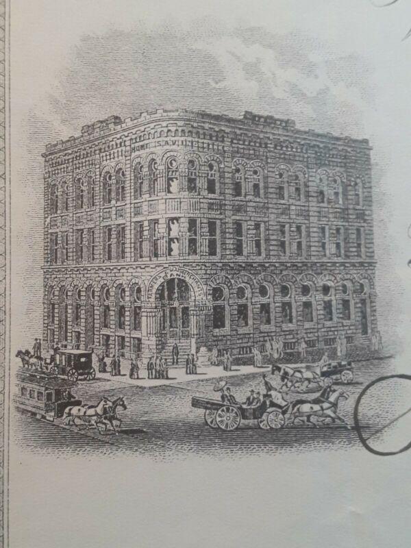 Bank Check, Awesome obsolete note  1902 Farmers & Merchants Bank Kool vignette
