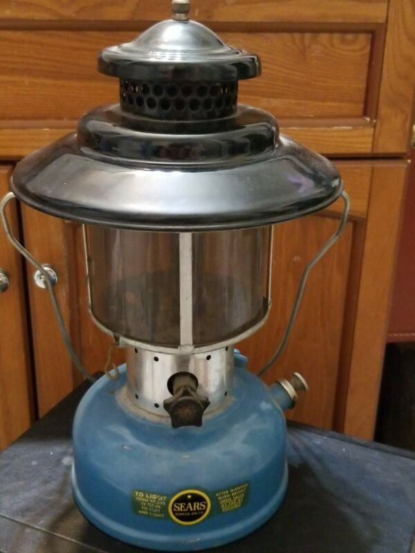 COLEMAN MADE SEARS LANTERN DATED 4-66