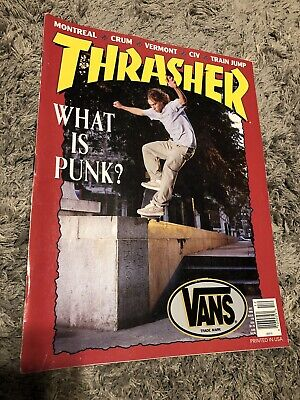 Thrasher Skateboard Magazine December 1995 Mike Crum Marc Johnson Punk Civ