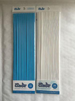 3Doodler ABS: Polar White & Lagoon Blue  25pcs x 2