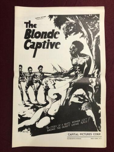 BLONDE CAPTIVE MOVIE POSTER EXHIBITOR CAMPAIGN 1932 PRE-CODE PRESSBOOK
