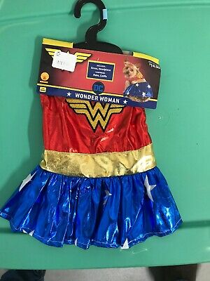 Wonder Woman Pet Costume Dog Superhero Halloween Fancy Dress